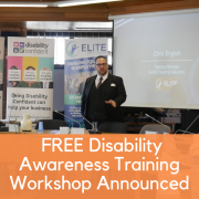 FREE Disability Awareness Training workshop announced