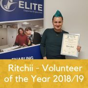 Ritchii – Volunteer of the Year 2018/19