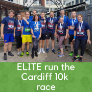 ELITE complete the Cardiff 10k run
